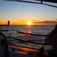 Atardecer navegando
