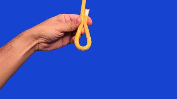 Nudo ligada redonda paso 1