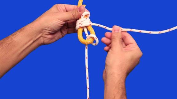 Nudo ligada redonda paso 6