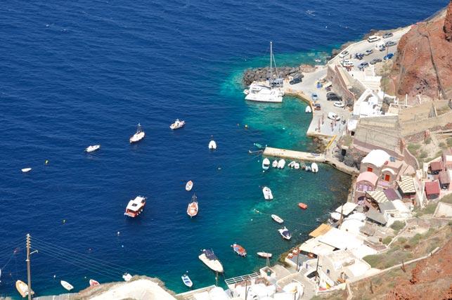 Fondeo en Oia Santorini