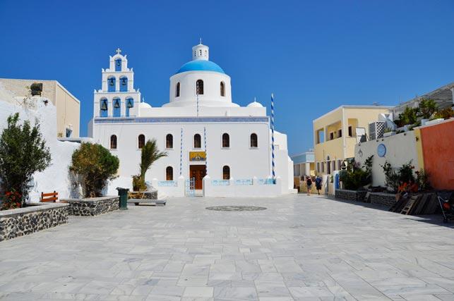 Santorini plaza Oia