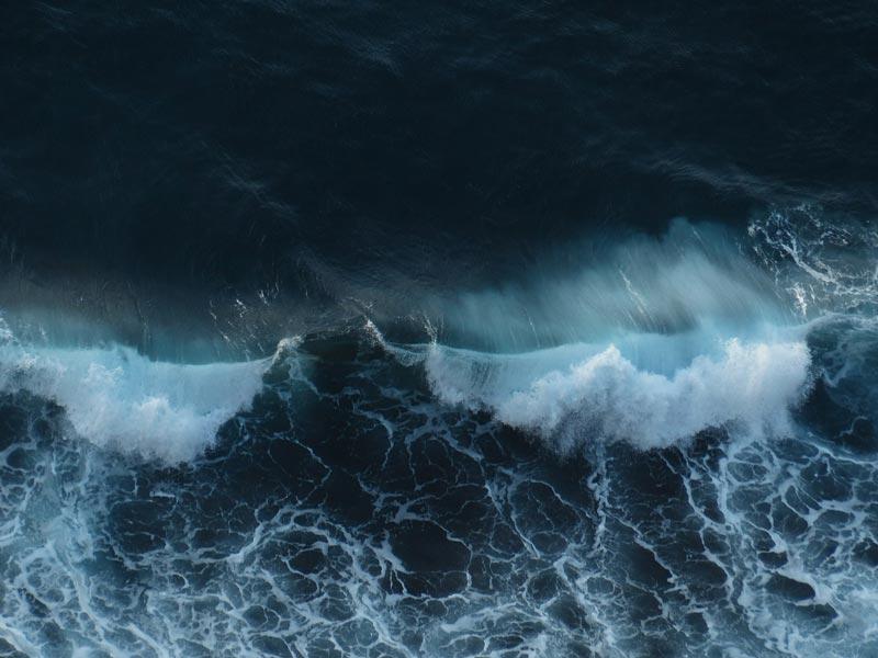 Mar de fondo, el fetch y las olas del mar