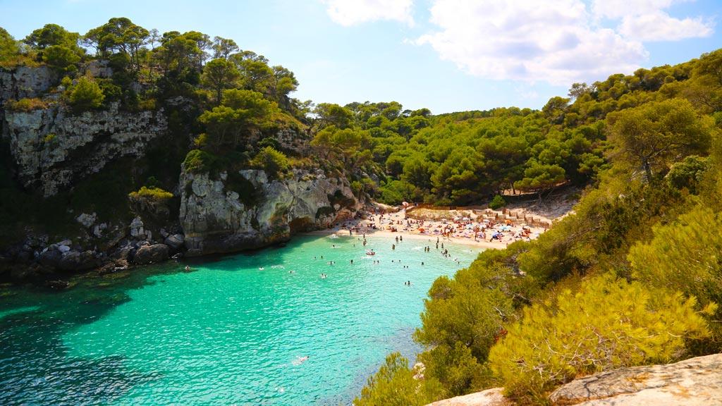 Menorca cala Macarelleta