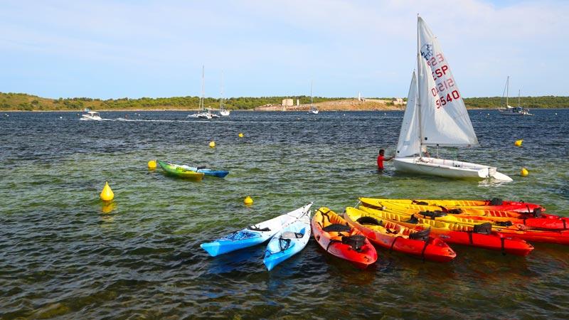 Menorca Fornells, deportes acuáticos