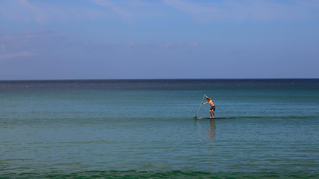 Paddle Surf en la Playa de Riazor de La Coruña