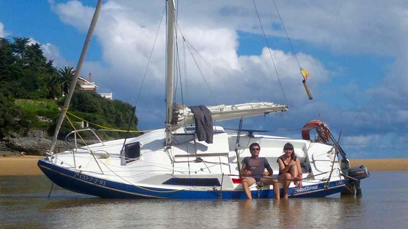 Navegar a vela en un crucero de 19 pies