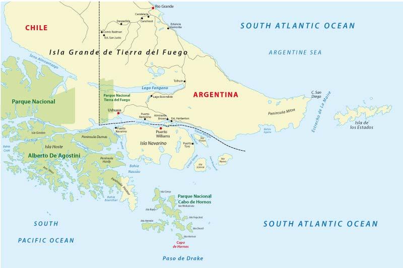 Mapa de Cabo de Hornos
