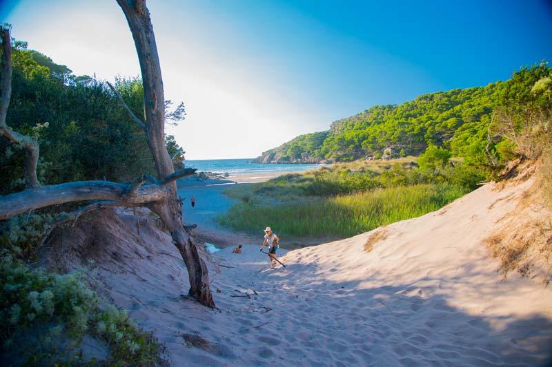 Camino a la Playa Pequeña de Algaiarens
