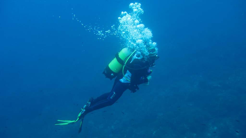 Bucear en las Islas Columbretes
