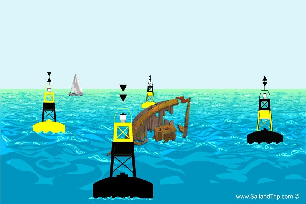 Señalización marítima marcas cardinales