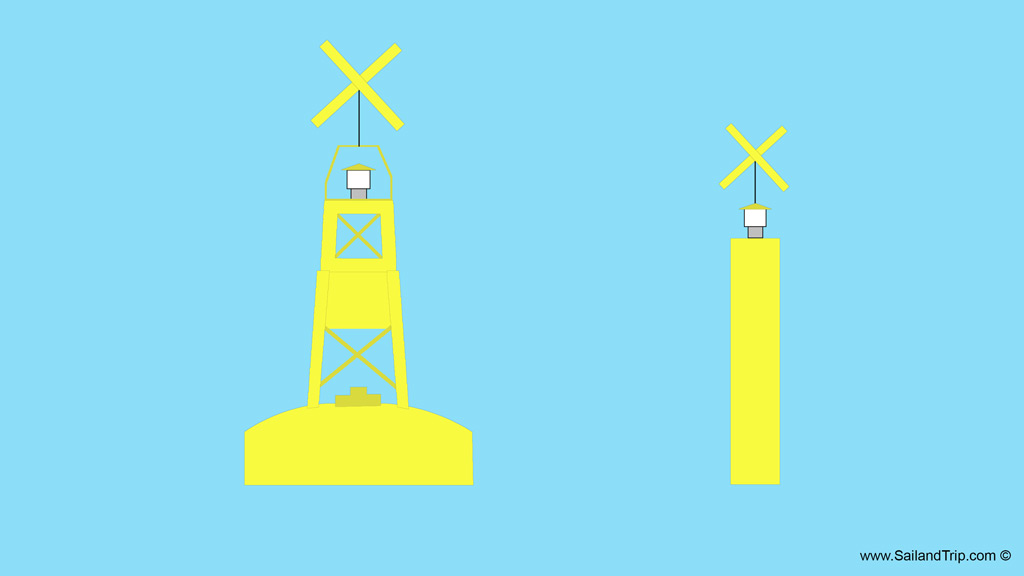Señalización marítima: Marcas especiales