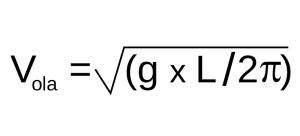 Velocidad de una ola fórmula