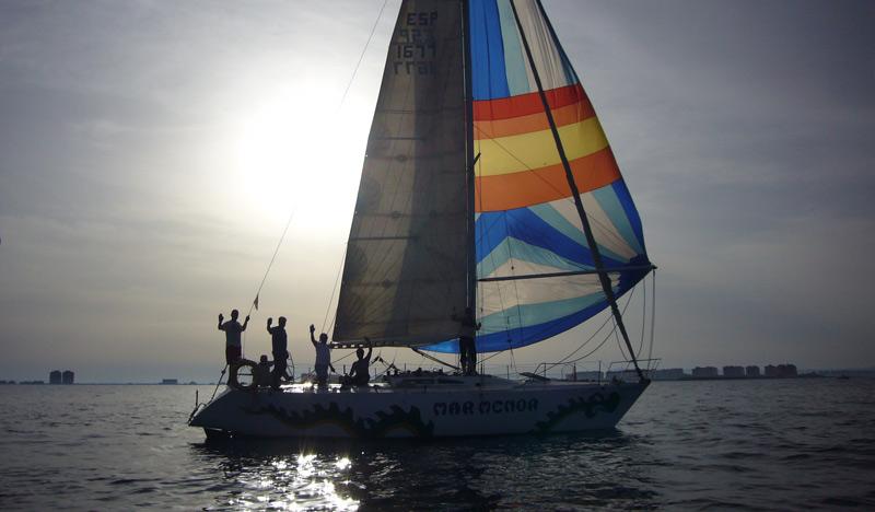 Velero Mar Menor tripulación