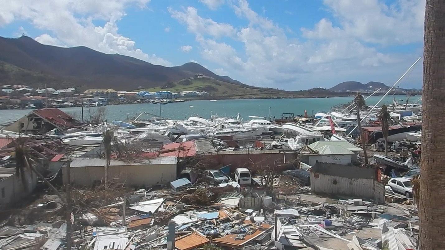 Astillero Geminga tras el Huracán Irma