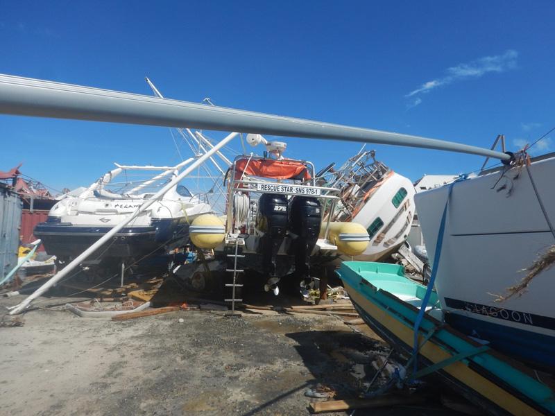 Huracán Irma destrozos en astillero