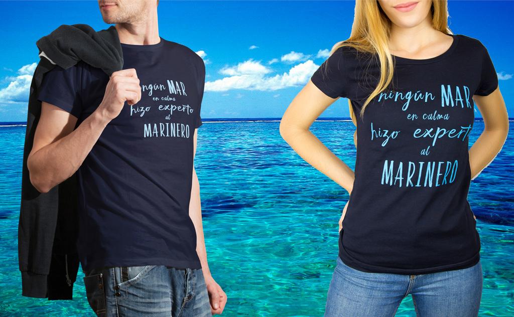Camiseta marinera ningún mar en calma hizo experto